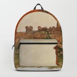 Ruins Of The Temple Of Zeus, Baalbek - Digital Remastered Edition Backpack
