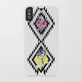Neon Rose iPhone Case