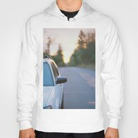 subaru Hoodies featuring Sunrise by MICHAEL