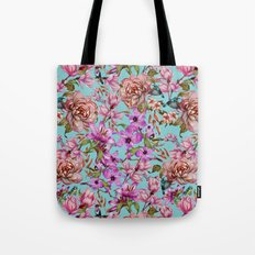 Watercolor Floral Pattern II Tote Bag
