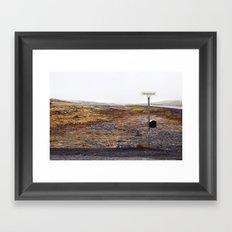 Post box, Iceland Framed Art Print