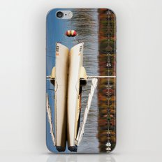 Sailboat on Quiet Lake in Autumn iPhone & iPod Skin