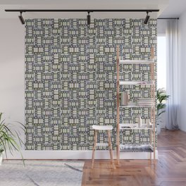 Art Deco abstract geometric stained glass pattern Wall Mural