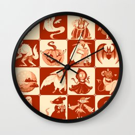 Drawlloween Wall Clock