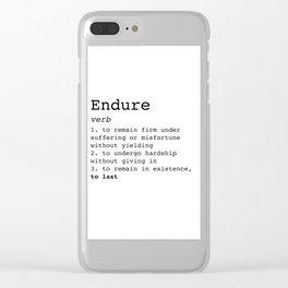 Endure Clear iPhone Case