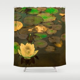 Summer Waterlily Pond Shower Curtain