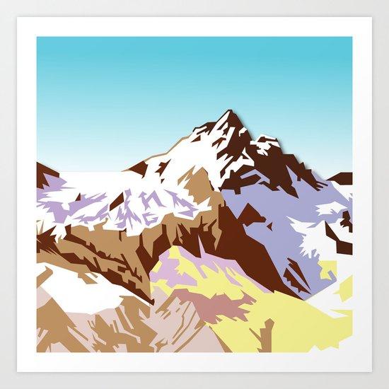 Night Mountains No. 49 Art Print
