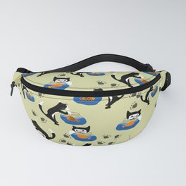 Cat and Fishbowl Fanny Pack