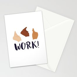 Work! (Schuyler Sisters) Stationery Cards