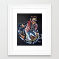 mcfly Framed Art Prints featuring MARTY MCFLY by John McGlynn