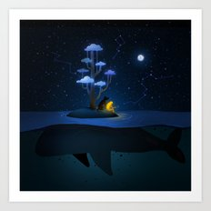 Whale Island Art Print