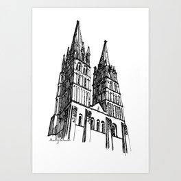 church of the survivor Art Print
