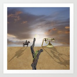 Weird desert situation Art Print
