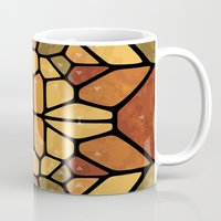 sacred geometry Mugs featuring Sacred geometry - Voronoi by Enrique Valles