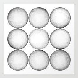 BLACK-WHITE SPHERE PATTERN Art Print
