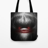evil Tote Bags featuring EVIL by Dctr. Lukas Brezak