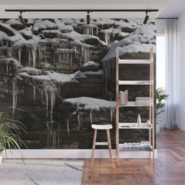 Icicles and Slate Wall Mural