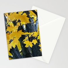 gold and black forest Stationery Cards