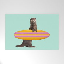 SURFING OTTER Welcome Mat