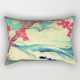 Waking to the Wild and Beautiful Ocean of Dhin Rectangular Pillow