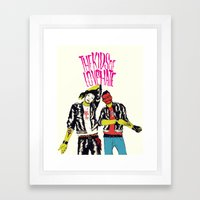 Kids of Love and Hate Framed Art Print