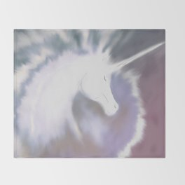 Unicorn World Throw Blanket