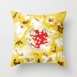 Popcorn princesses Throw Pillow