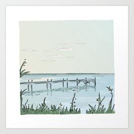 the transparant pier Art Print