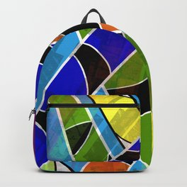 Snake Bamboo on Blue Backpack