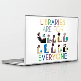 Rainbow Libraries Are For Everyone Laptop & iPad Skin