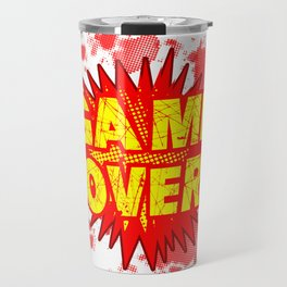 Game Over Cartoon Comic Explosion Travel Mug