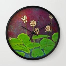 Lotus Crop from Golden Buddha Wall Clock