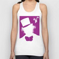 willy wonka Tank Tops featuring Willy Wonka Tribute Poster by stefano manca