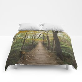 A Walk in the Woods, No. 2 Comforters