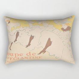 Vintage poster - Troupe de Mlle Eglantine Rectangular Pillow
