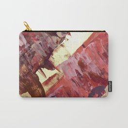 Desert Sun: A bright, bold, colorful abstract piece in warm gold, red, yellow, purple and blue Carry-All Pouch