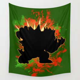 Super Smash Bros. Bowser Silhouette Wall Tapestry