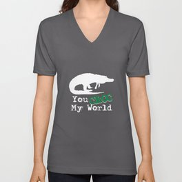 You Croc My World - Reptile Party Alligator Unisex V-Neck