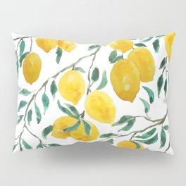 yellow lemon watercolor 2020 Pillow Sham