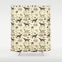 Setters Bird-dog pattern Shower Curtain