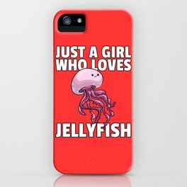 jellyfish jelly sweet medusa lover sea gift iPhone Case