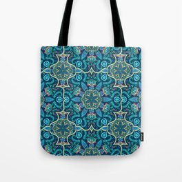 Colorful vintage mandala seamless pattern Tote Bag