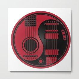 Guitar Yin-Yang Metal Print