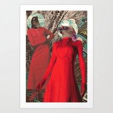 Les Femmes Oiseaux Art Print