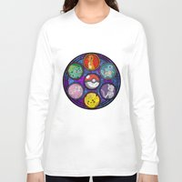 stained glass Long Sleeve T-shirts featuring Stained Glass by Mazuki Arts