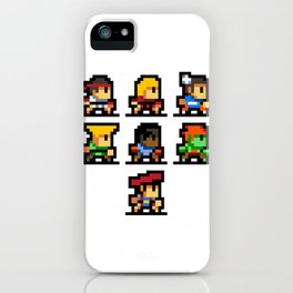 Minimalistic - Street Fighter - Pixel Art iPhone Case