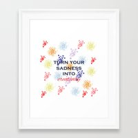 creativity Framed Art Prints featuring Creativity by Roxana C.