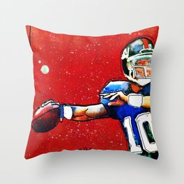 NY Giants' Eli Manning Throw Pillow