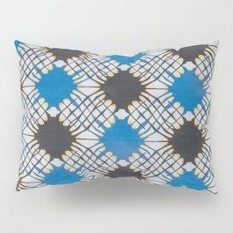 Blue Chess African Ankara Pillow Sham