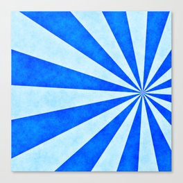 Blue sunburst Canvas Print
